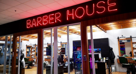 Barber neon sign